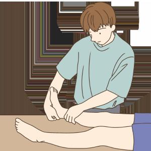 腓腹筋内側頭ストレッチA