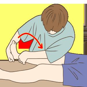 腓腹筋内側頭ストレッチB